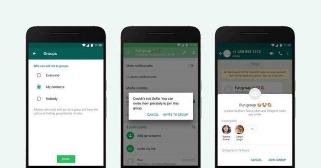 WhatsApp brengt functie uit om groepsgesprekken te weigeren