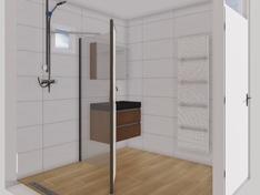 badkamer vanaf wc