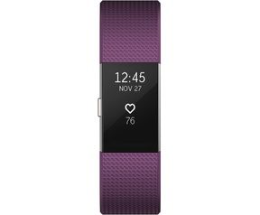 Fitbit Charge 2 - Plum/Silver (L)