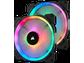 Goedkoopste Corsair LL140 RGB 140mm Dual Light Loop RGB LED PWM Fan - Twin pack + Lighting Node PRO, 140mm