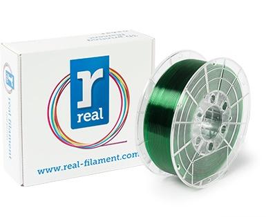 REAL filament groen transparant 1,75 mm PETG 1 kg