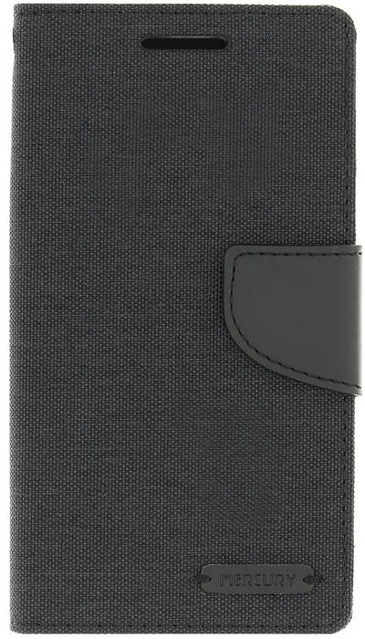 Mercury Canvas Diary Wallet Case Samsung Galaxy A5 (2016) - Zwart Zwart