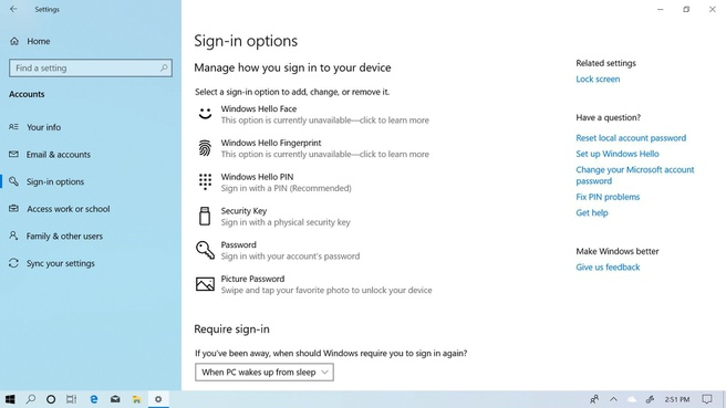 Windows 10 May 2019 Sign In