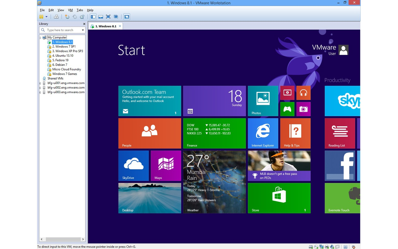 VMware Workstation 10.0 screenshot