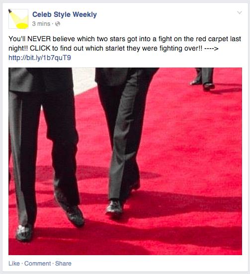 Click-baiting op Facebook