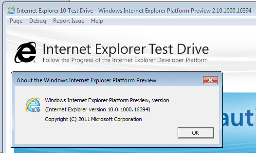 Internet Explorer 10 platform preview