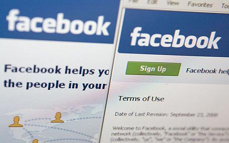 facebook login scherm