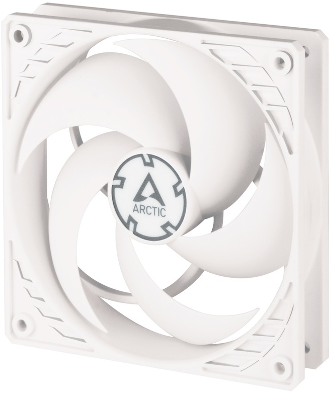 Arctic P12 PWM PST (White/White) Pressure-optimised 120 mm Fan with PWM PST