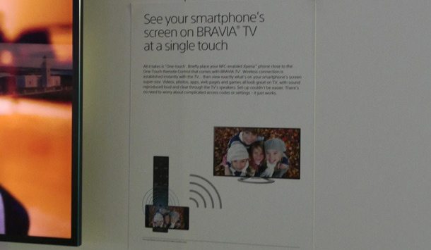 Sony 65X900 one-touch mirror