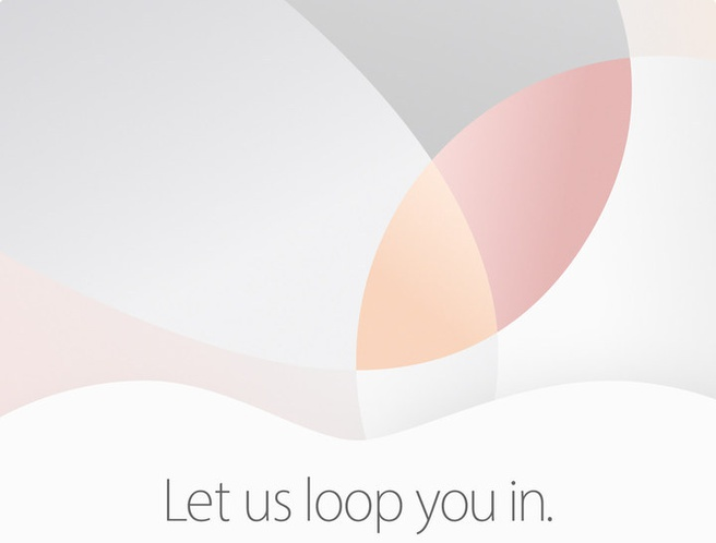 Apple 21 maart 2016 uitnodiging