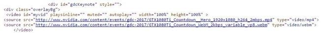 Nvidia GTX 1080 Ti in broncode teasersite