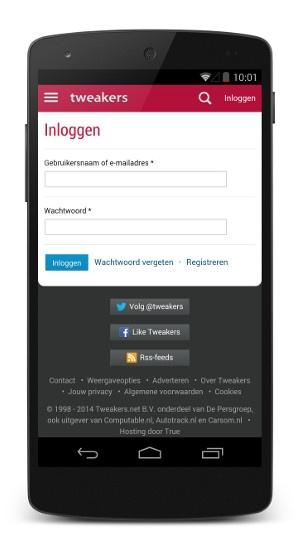 responsive login