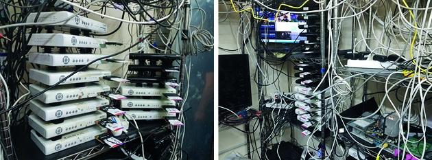 Eurojust illegale tv servers (foto door Italiaanse politie)