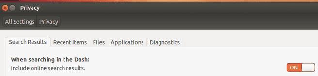 Ubuntu 12.10 - Privacy-instellingen voor online zoekresultaten in de Dash