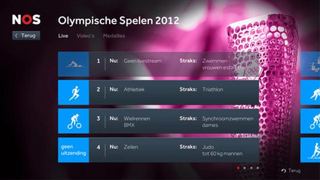 NOS Sport-app voor PS3