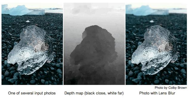Lensvervaging met diepte-info in Googles camera-app