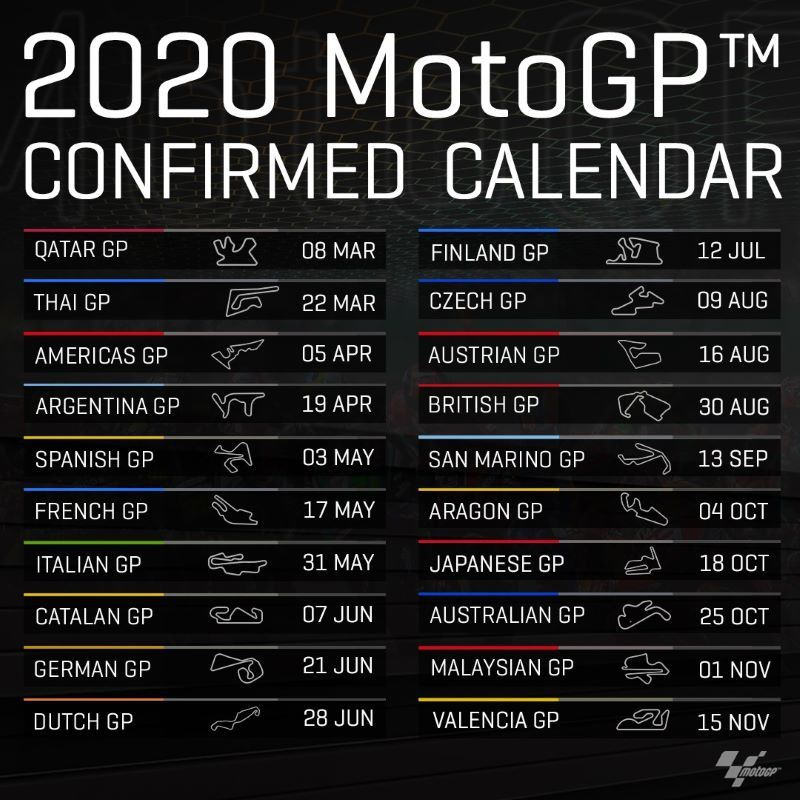 Kalender 2020 MotoGP