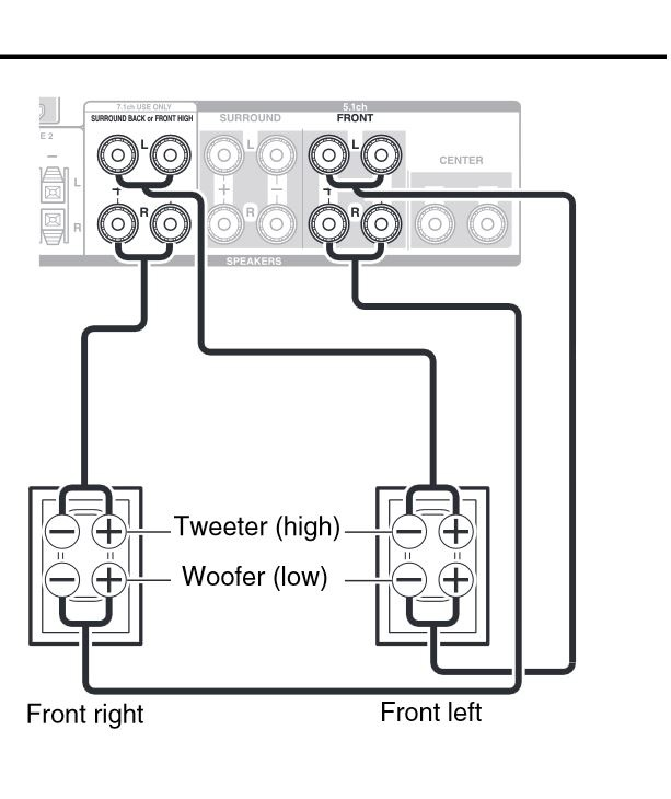 bi amp wiring diagram speaker crossover diagram wiring