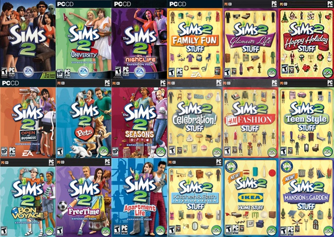 Sims 2 Covers