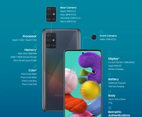 Samsung Galaxy A71 en A51