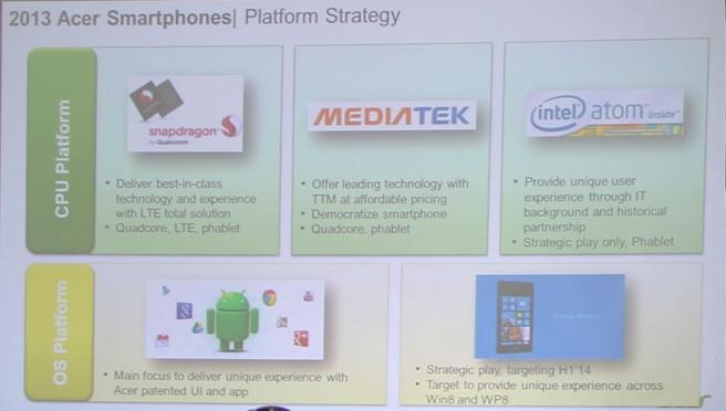 Slide uit presentatie Acer