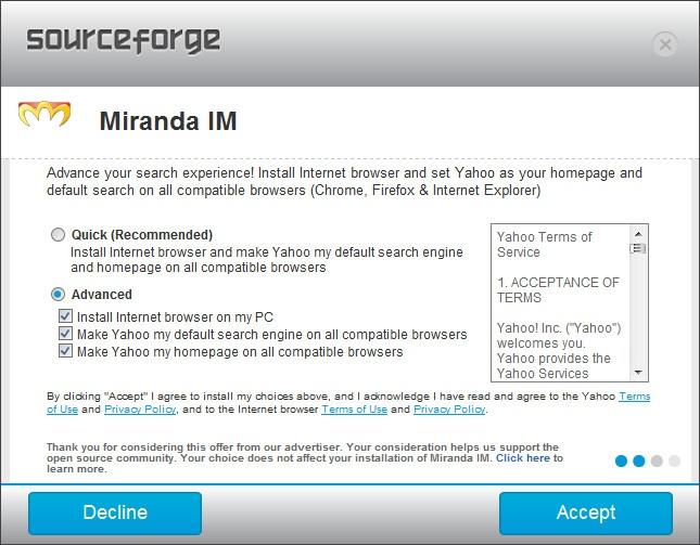 SourceForge dubieuze aanbieding