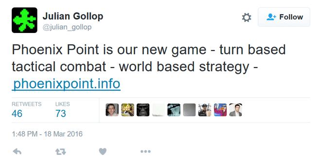Tweet Julian Gollop Phoenix Point