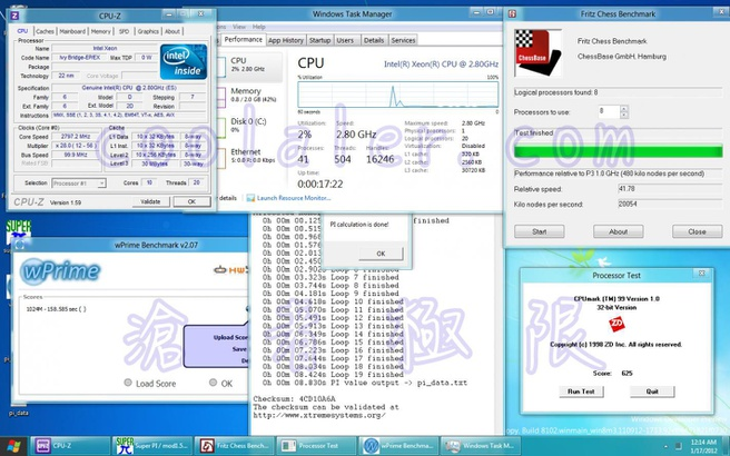 Ivy Bridge EP (ES) benchmarks