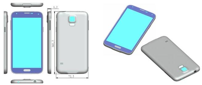 Galaxy S5 (bron: Sonny Dickson)