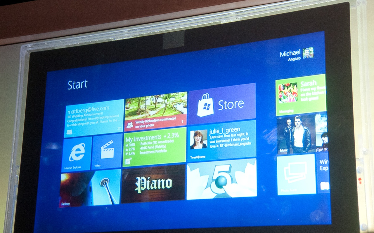 Tabletinterface van Windows 8