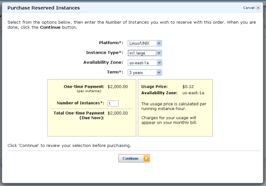 Amazon EC2 purchase Reserved Instances