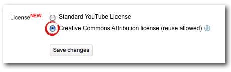 CC-licentie op YouTube