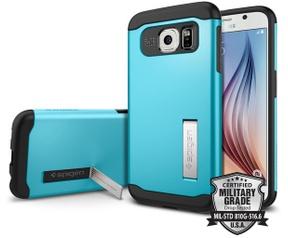 Spigen Slim Armor Samsung Galaxy S6 Case - SGP11327 - Blue Topaz