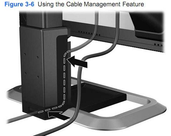 Kabelmanagement uitleg in de handleiding