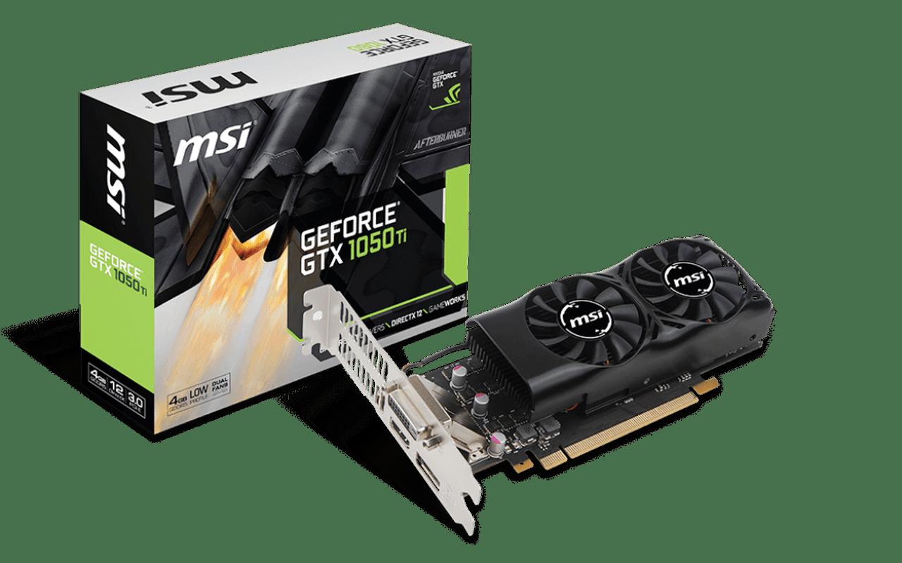 MSI GTX 1050 en 1050 Ti low-profile