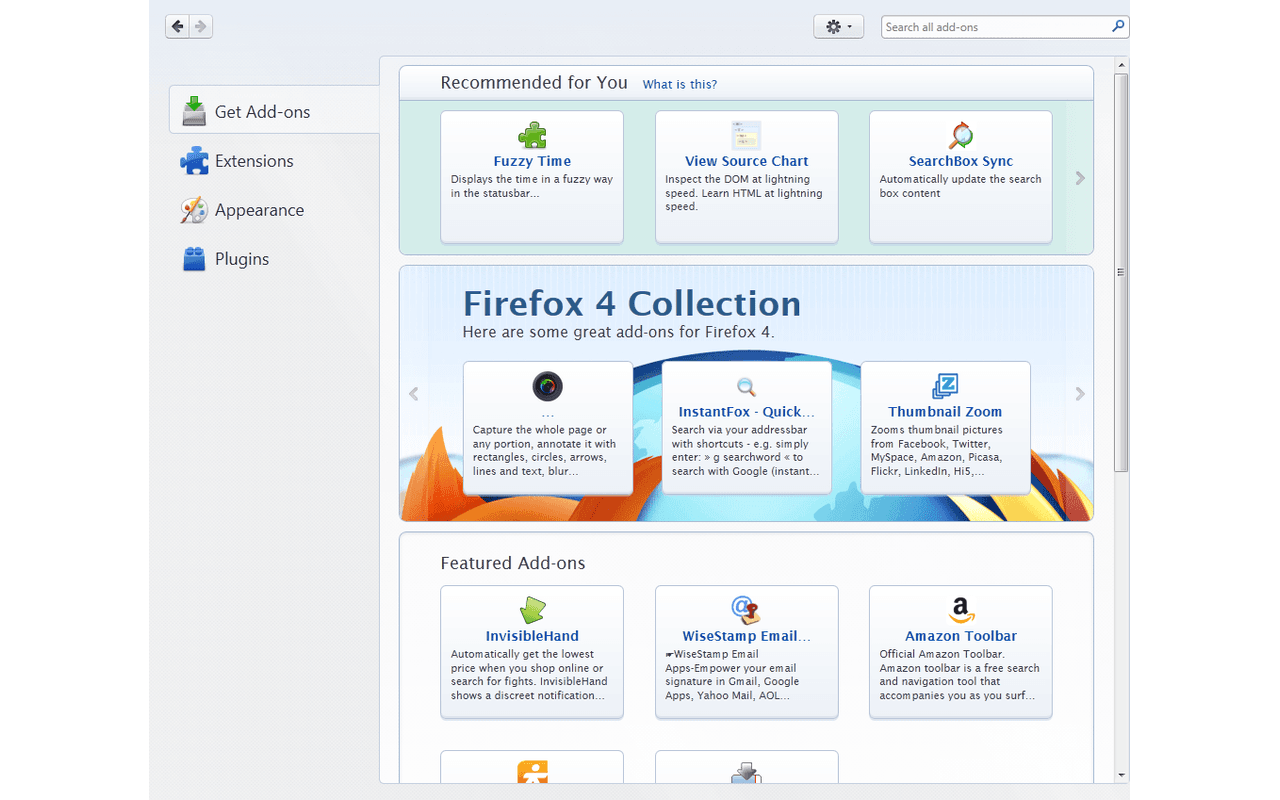 firefox 4 terug in de browserrace add on manager