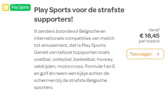 Play Sports Telenet