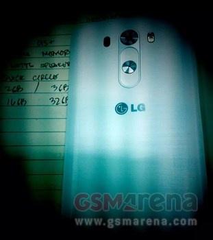 Mogelijke achterkant LG G3