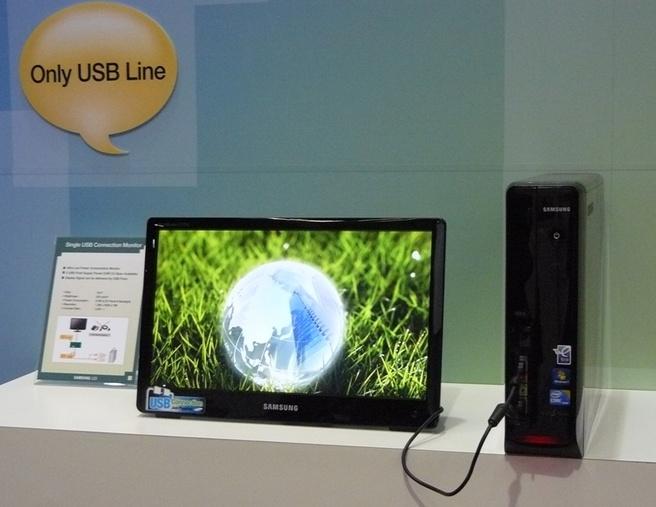 Samsung-monitor met usb-voeding