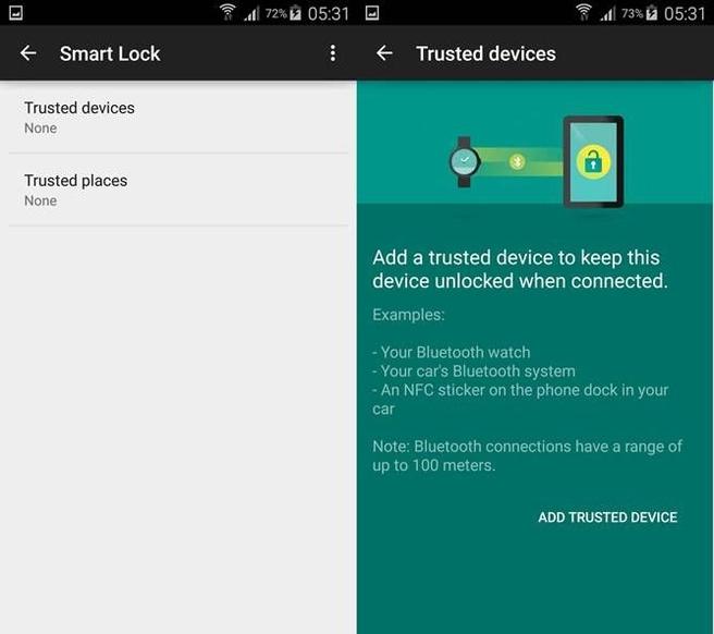 Smart Lock op Android 5.0