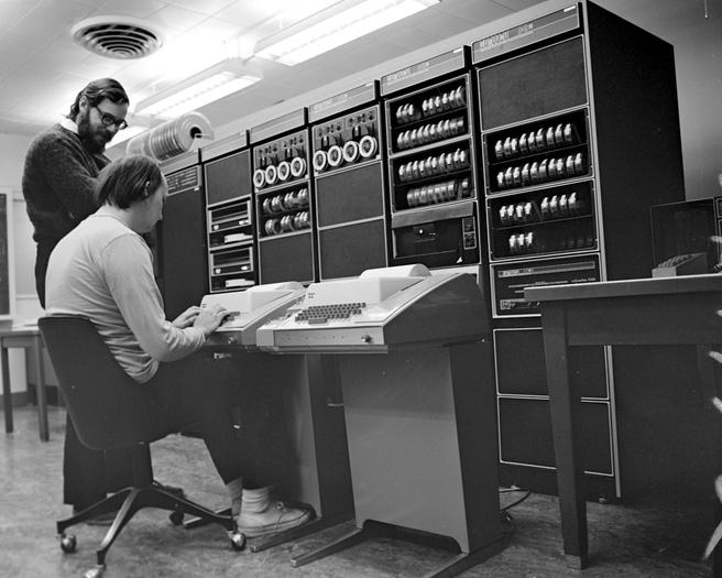 Ken Thompson en Dennis Ritchie via wikimedia