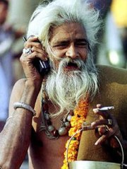 Mobiele beller in India