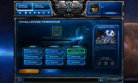 StarCraft II Challenges