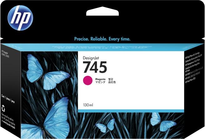 HP 745 magenta DesignJet inktcartridge, 130 ml