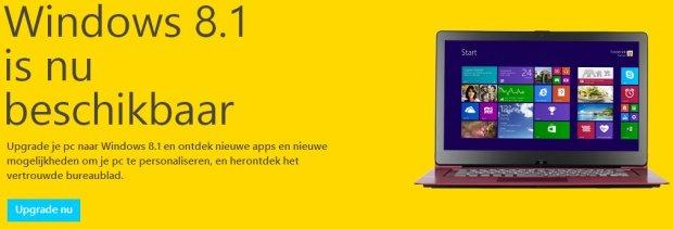 Windows 8.1 beschikbaar