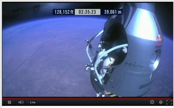 Baumgartner YouTube livestream
