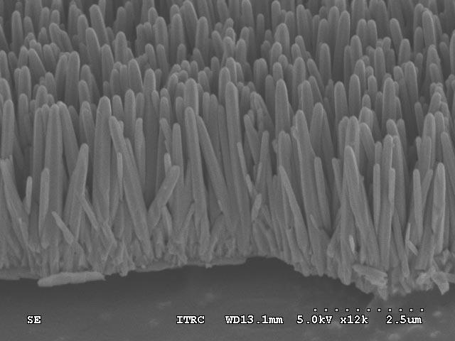 Zinkoxide-nanostaafjes op cd