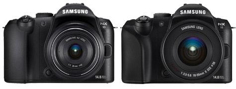 Samsung NX10/NX11-vergelijking