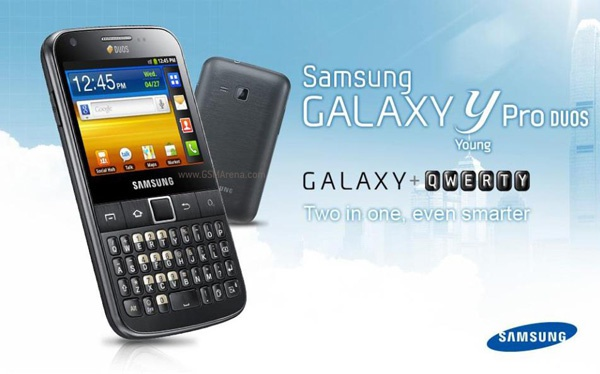 Samsung Galaxy Y Pro Duos (afbeelding: GSM Arena)