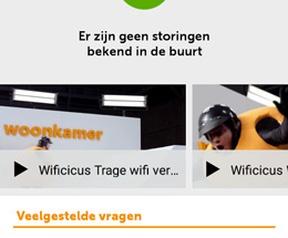 Ziggo Service app screens